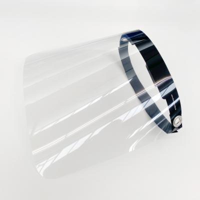 Klarsichtiger Gesichtsschutz aus transparenter Polyesterfolie