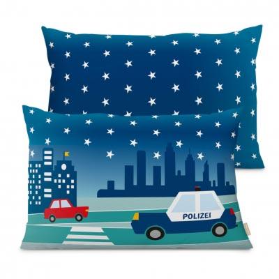 Dekokissen für Kinder mit Stadtmotiv bei Nacht, City by Night