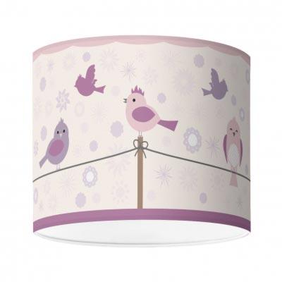 Kinderzimmerlampe mit Vogelmotiv, Birds&Flowers