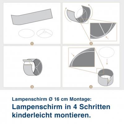 Aufbauanleitung für Lampenschirm im maritimen Design mit Leuchtturm, Sailing Red - ø 16 cm x 13,8 cm