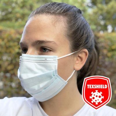 Medizinische Mund-Nasen-Maske mit antiviraler Beschichtung