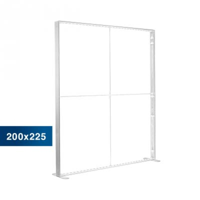 Mobile Light Box im Format 200 × 225 cm ohne Textildruck