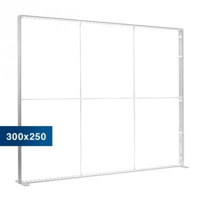 Mobile Light Box im Format 300 × 250 cm ohne Textildruck