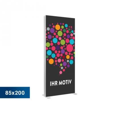 Mobile Light Box im Format 85 × 200 cm mit Textildruck