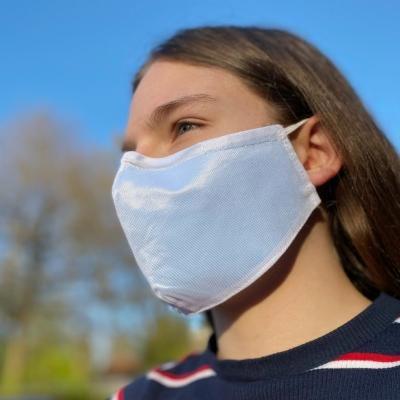 Wiederverwendbare behelfsmäßige Schutzmaske